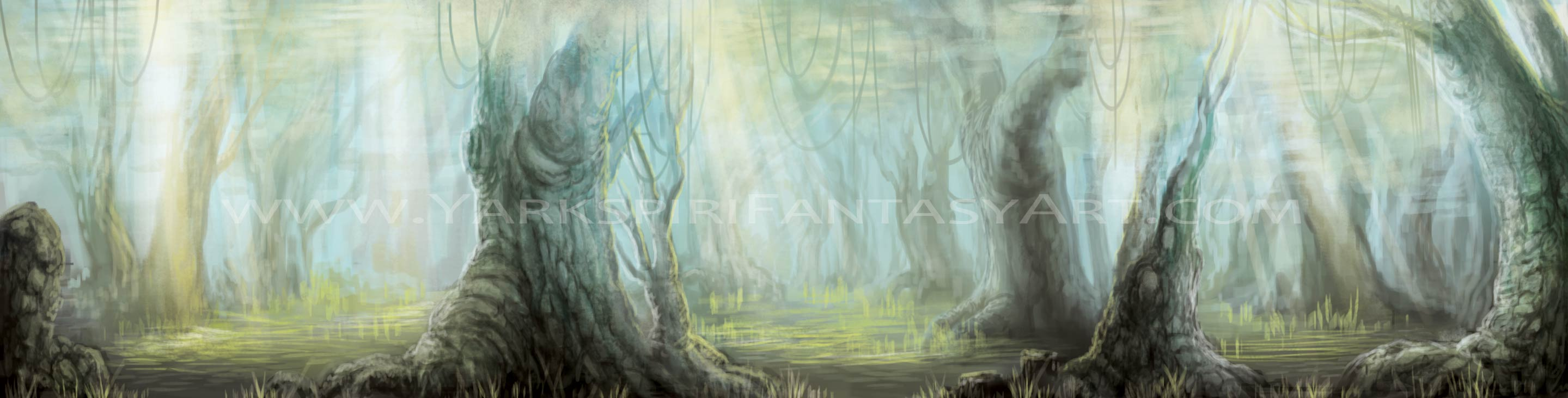 Swamp Background Concept