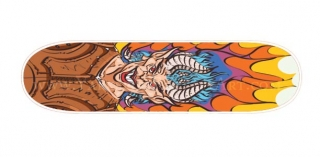 Skate Board Design - Flaming Demon