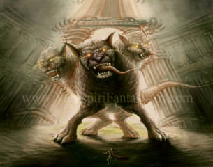 Cerberus Guarding the Gates of the Underworld