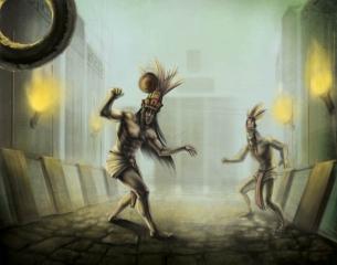 Xbalanque and Hunahpu Mayan Twin Heros